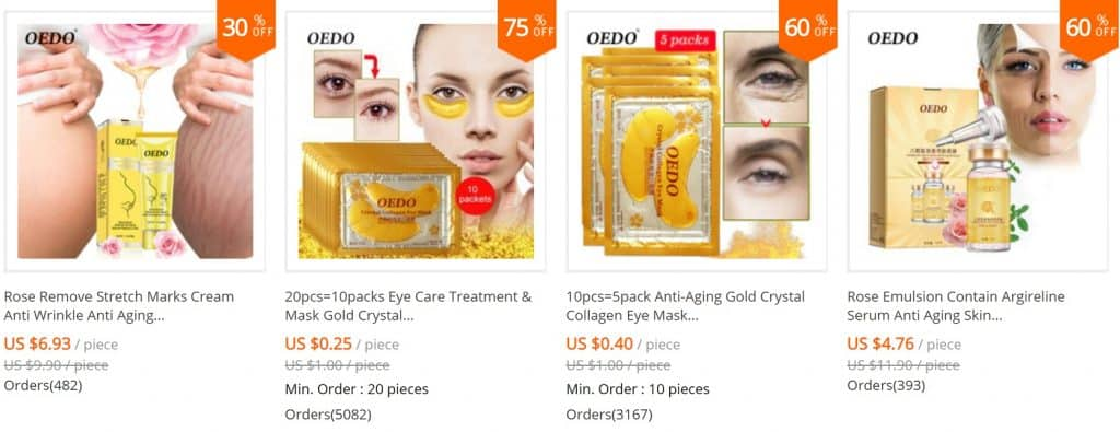 AliExpress Beauty Product Skincare Trusted Cheap Wholesale Price Safe Serum Handcream China Cosmetics Oedo1