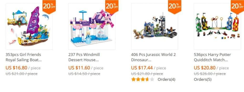 AliExpress Lego Replica Lego Alternative Lego Clone Daosen Store1