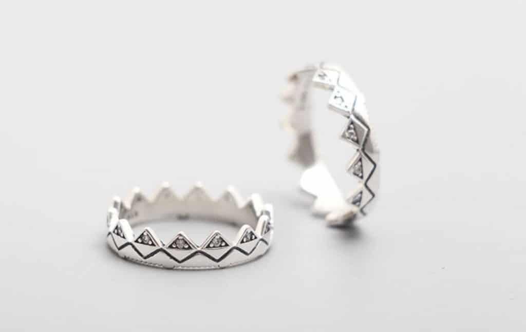 Pandora Charm Replica Bracelet Pendant Jewelry 925 Sterling Silver AliExpress Exotic Crown Ring Shine Jagged Edge Diamond1