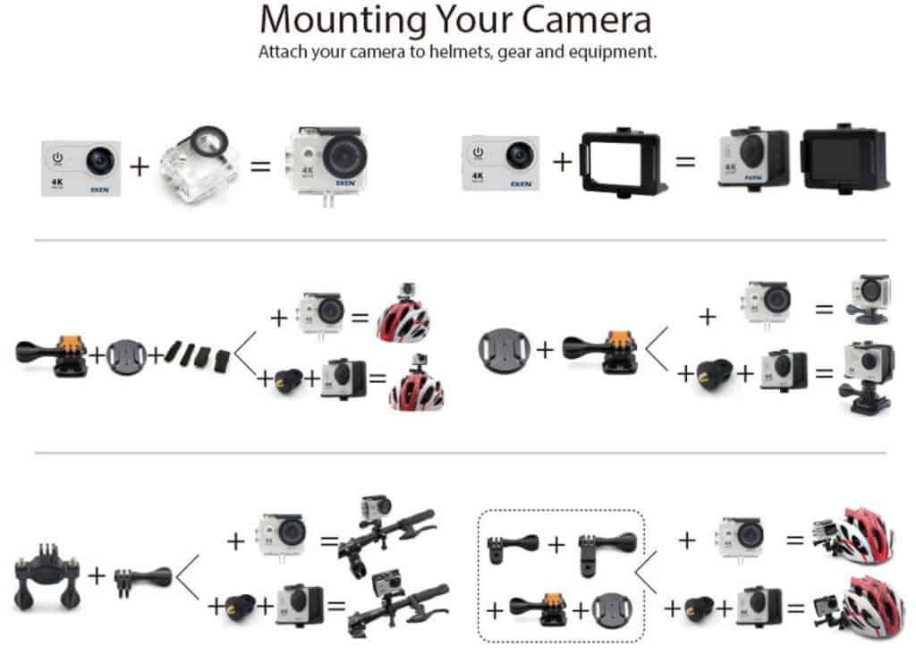 Top 5 Best AliExpress GoPro Alternatives Copy Cheap Action Camera Best Video Quality AliExpress Eken 4k Camera 4