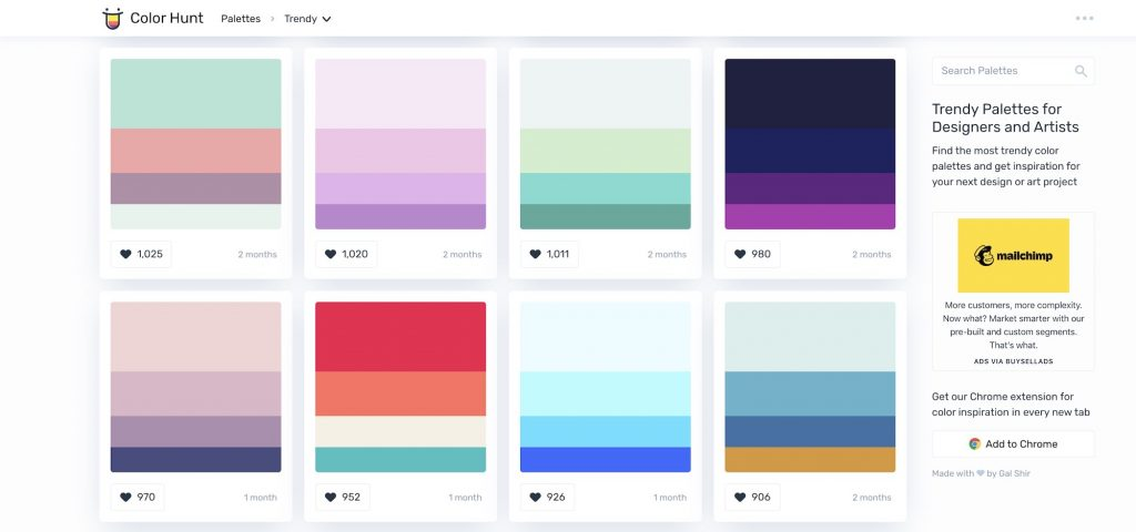 color hunt color combinations