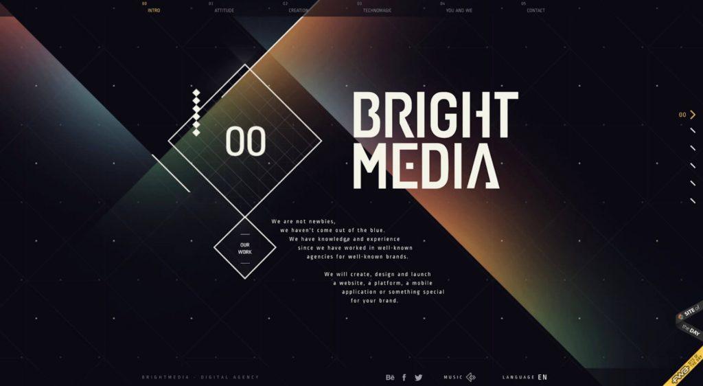 geometric web design trends