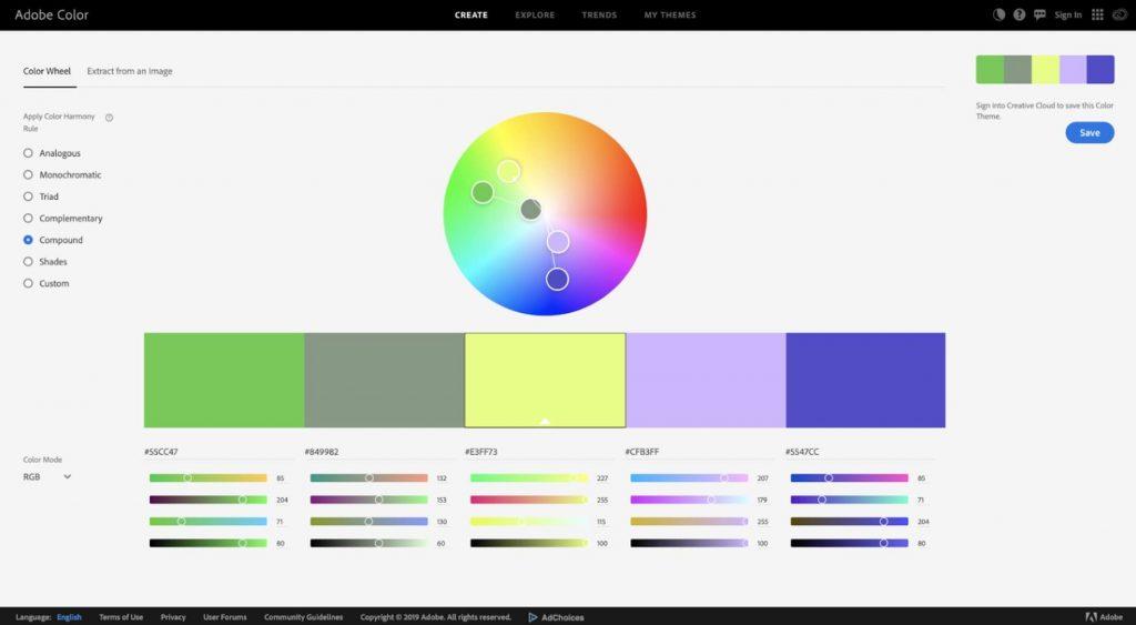 color palette trend
