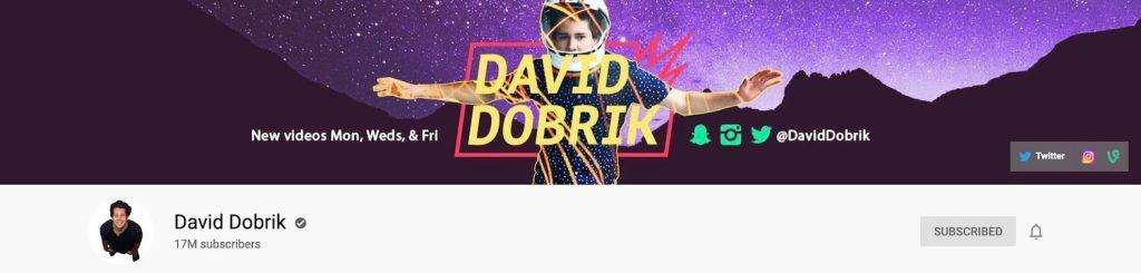 David Dobrik YouTube Banner