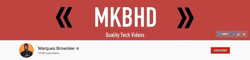 MKBHD Marques Brownlee Banner