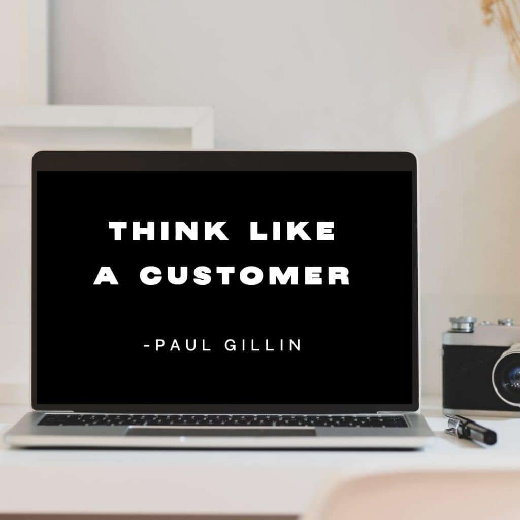think like a customer quote