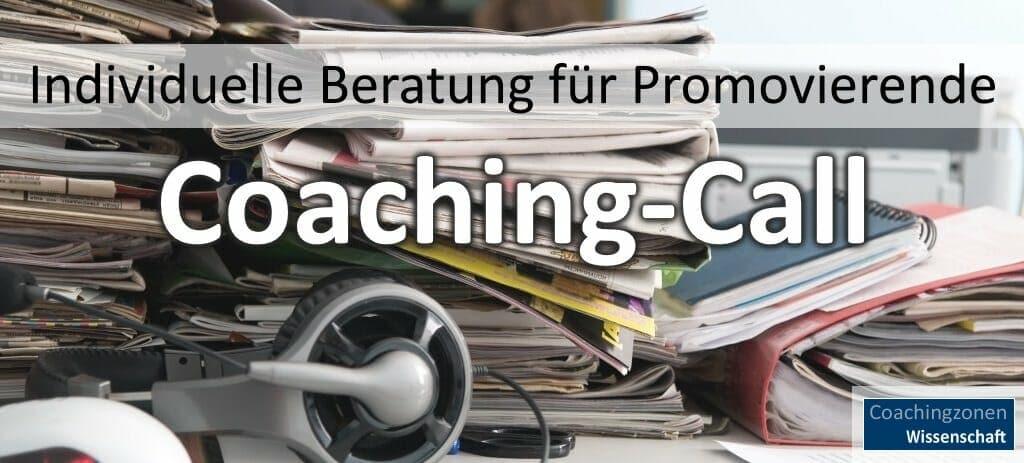 Promotionscoaching vereinbaren