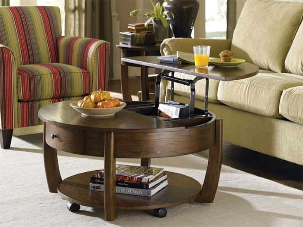 Hammary Concierge Round Lift-Top Coffee Table