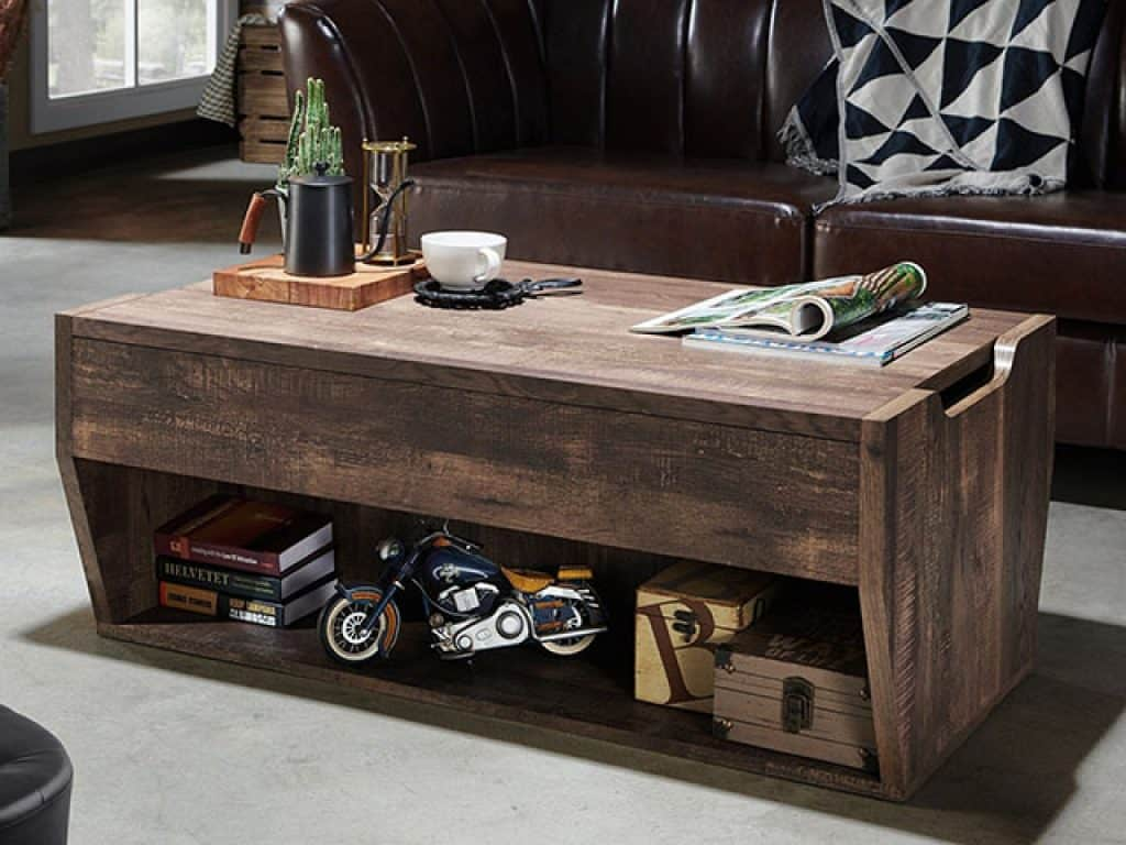 Jameson Rustic Reclaimed Oak Lift-top Coffee Table