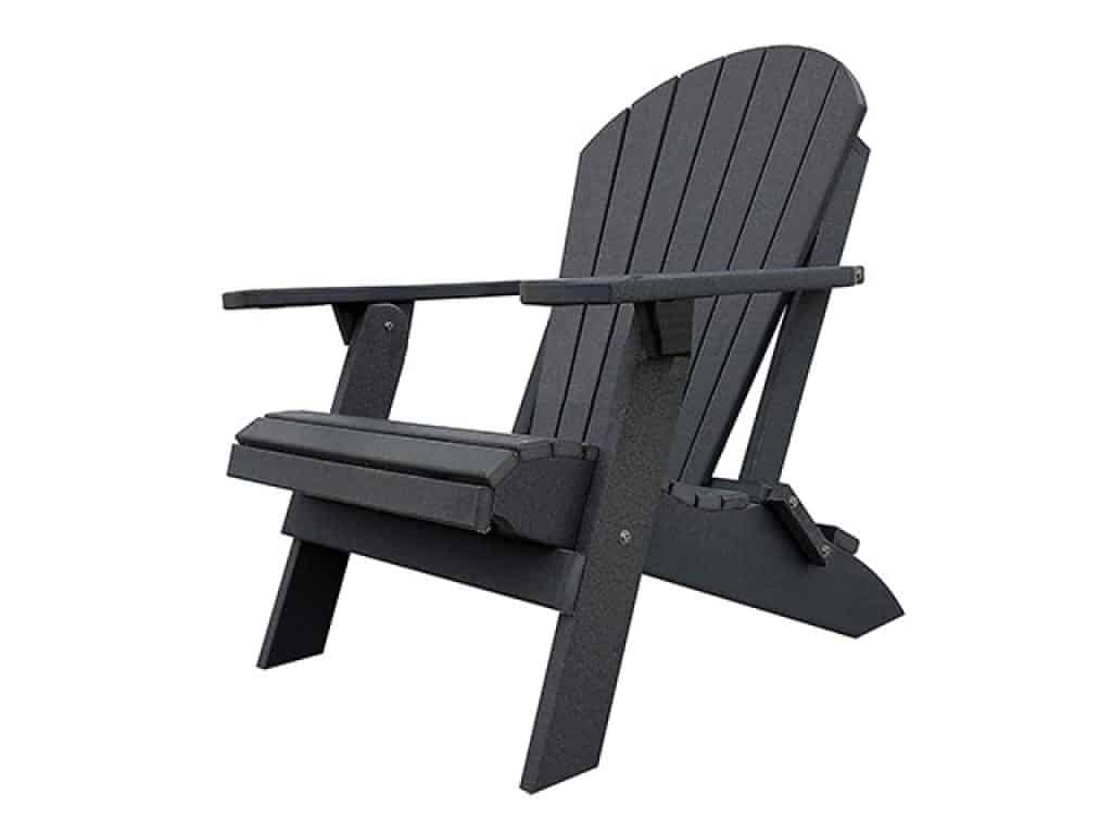 DuraWeather Poly King Size Folding Adirondack Chair
