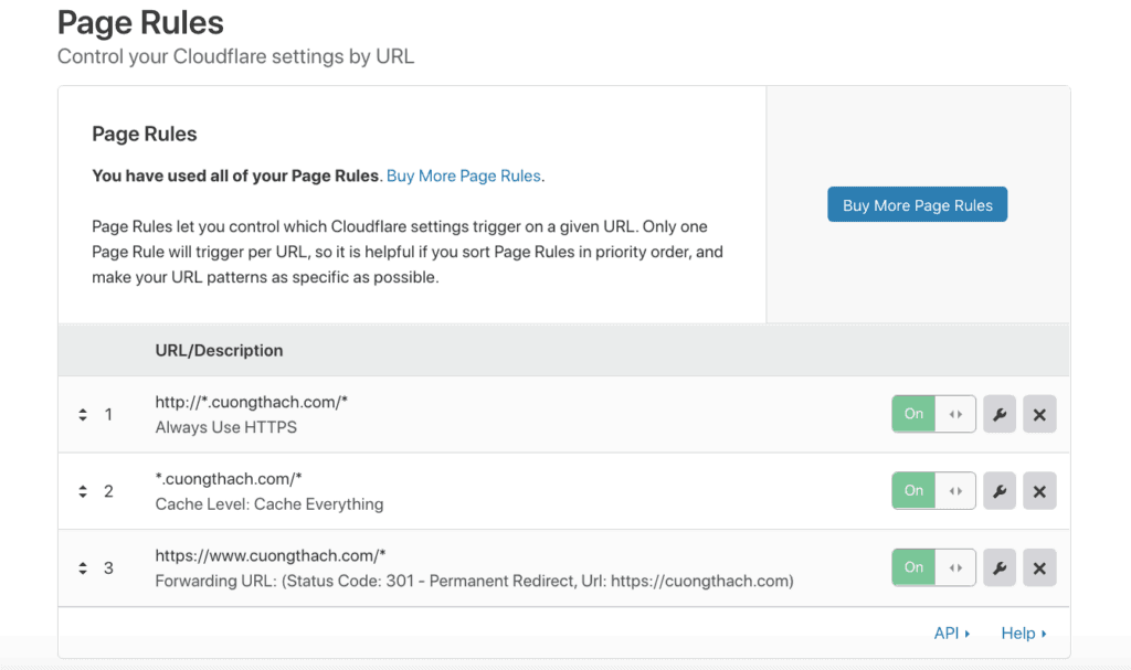 Thiet Lap Cloudflare Page Rule
