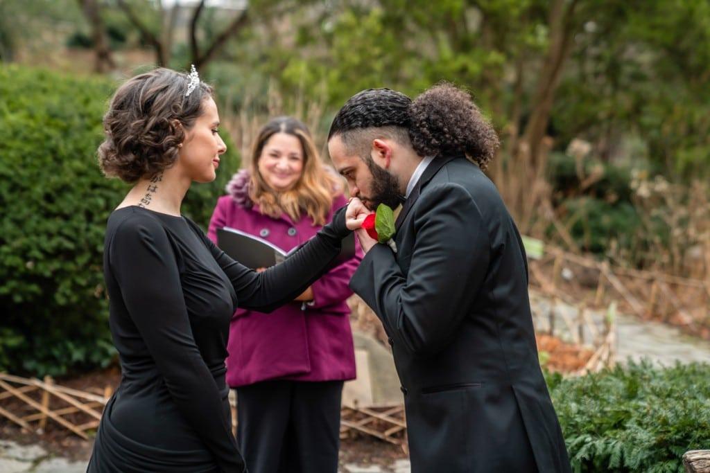 Photo 13 Nicolas and Neecha flower heart ceremony in Central Park.