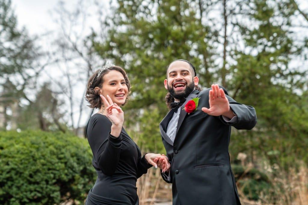 Photo 7 Nicolas and Neecha flower heart ceremony in Central Park.
