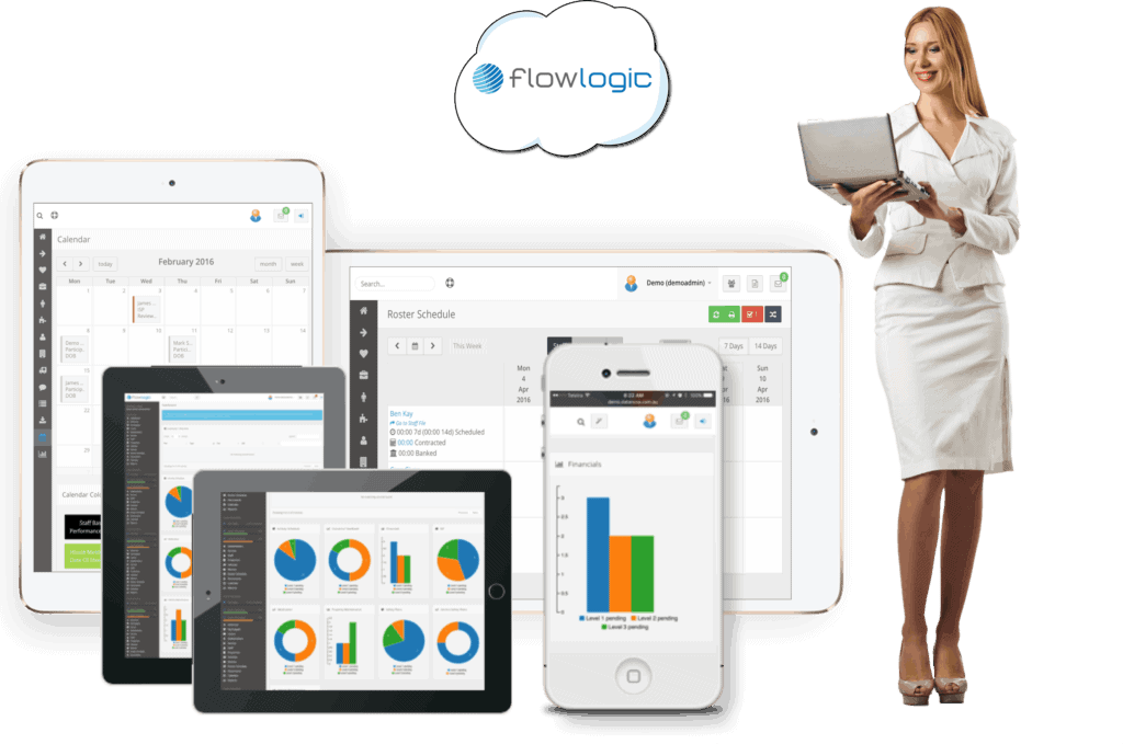 FlowLogic is mobile ready and cloud based