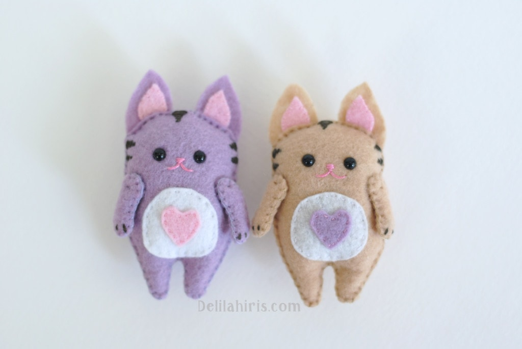 cat feltie plush pattern