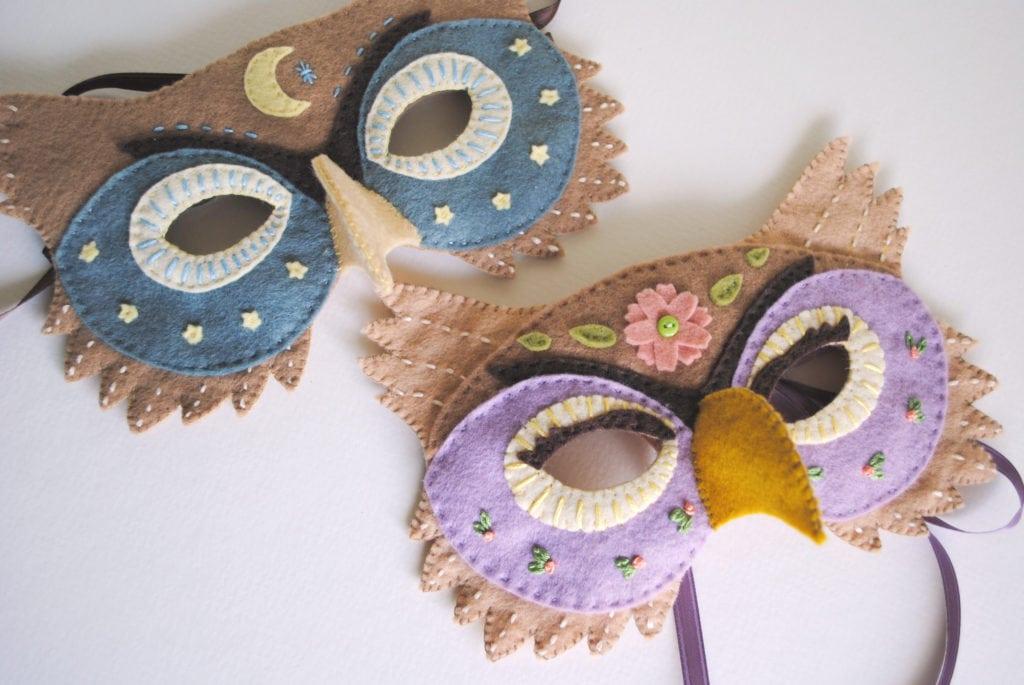Felt Owl Mask Pattern