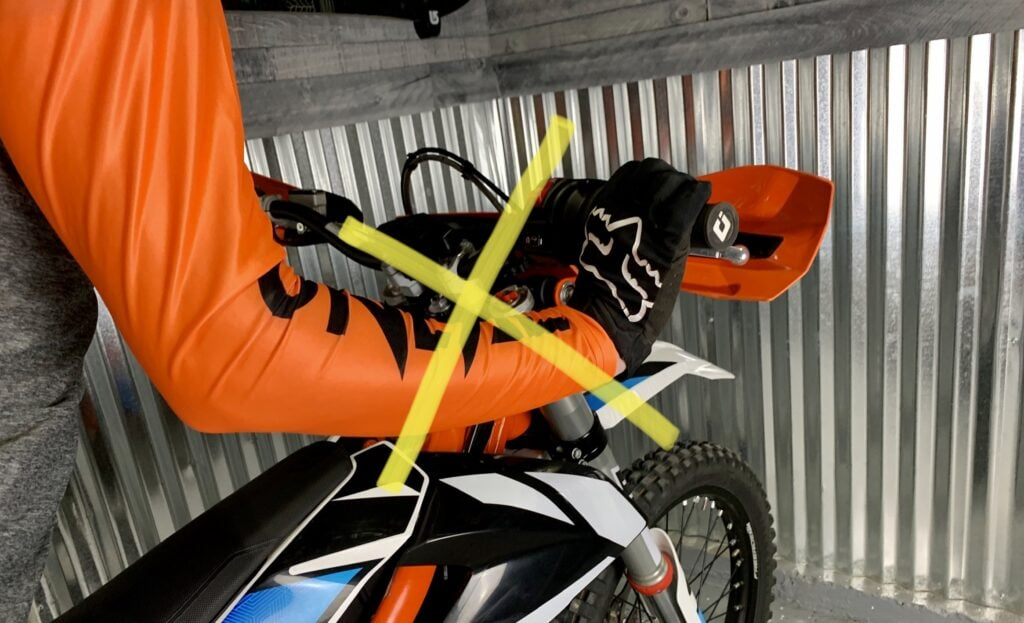 How to not hold a dirt bike throttle