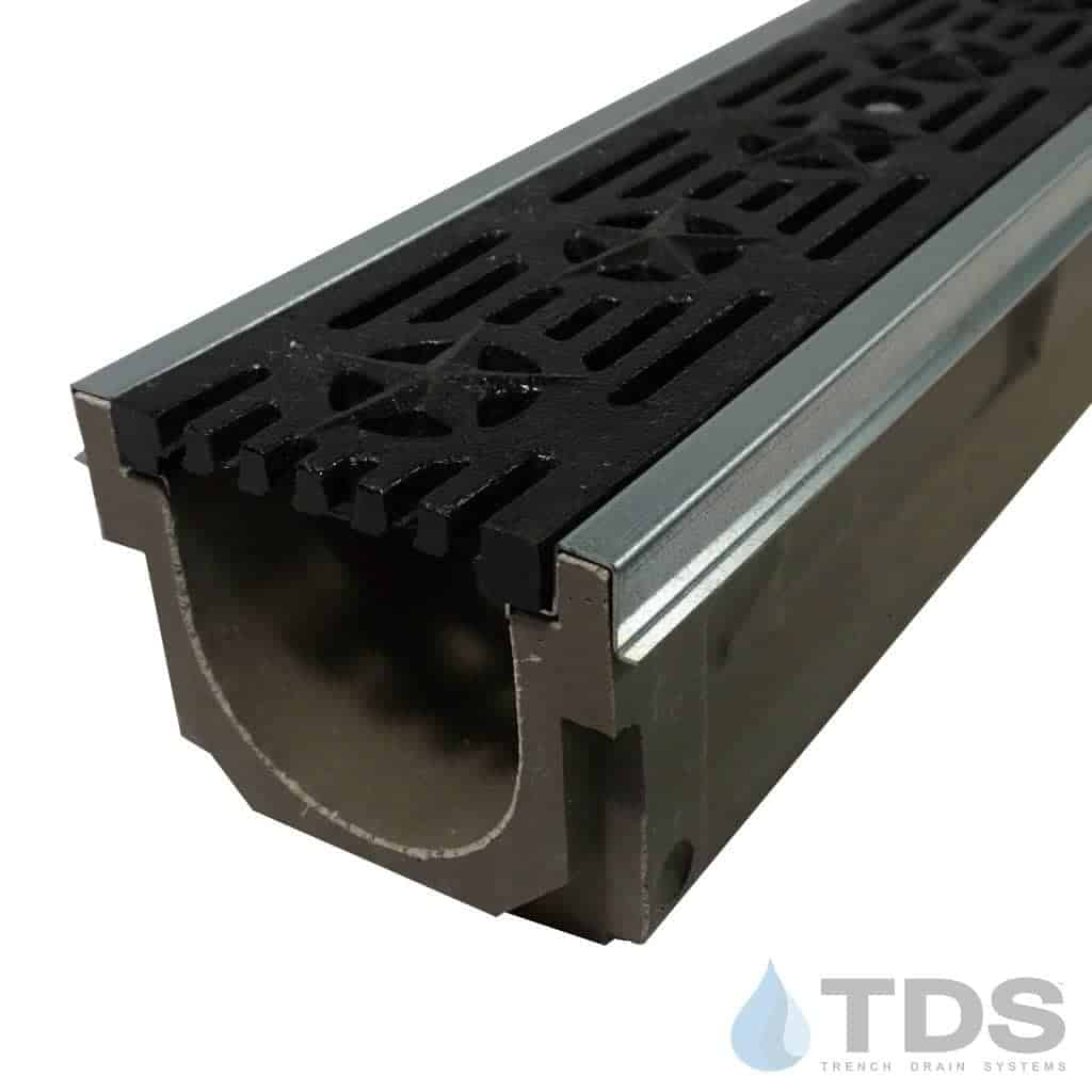 POLY600-GS-692-TDSdrains cast iron patriot grate galv steel edge polymer concrete channel Polycast