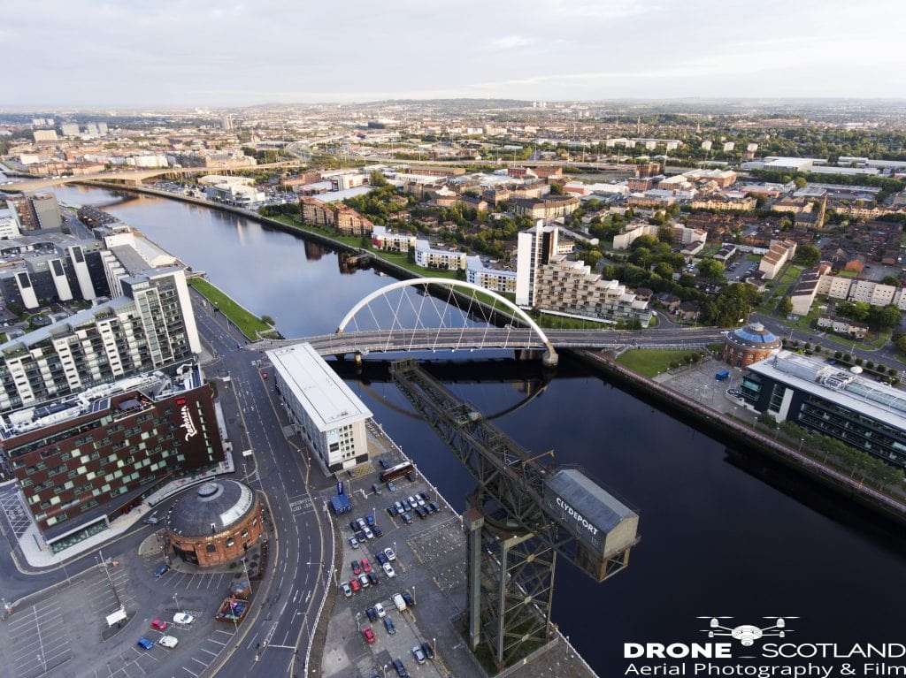 The Clyde Glasgow -Drone Scotland