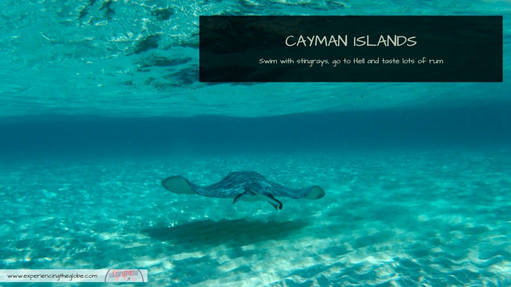 Swimming with stingrays after visiting a rum factory near Hell? Those are just some of the top things to do in the Cayman Islands! There's so much more than turquoise beaches in this Caribbean paradise! – Experiencing the Globe #StingrayCity #CaymanIslands #Caribbean #LatinAmerica #CentralAmerica #UnitedKingdom #Stingrays #SwimWithStingrays #Georgetown #TravelExperiences #BeautifulDestinations #Wanderlust