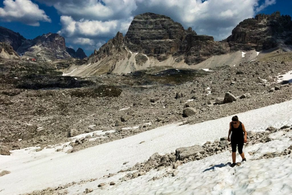 Hiking in Tre Cime, Dolomites, Italy