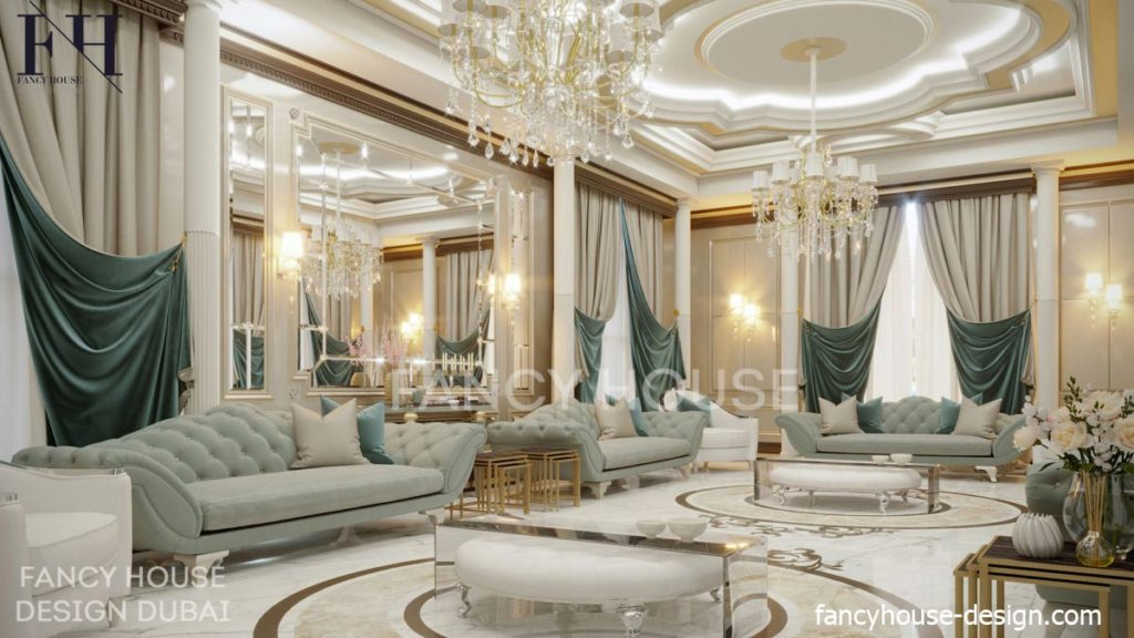 Modern Arabic Majlis Interior Design In Dubai Fancy House