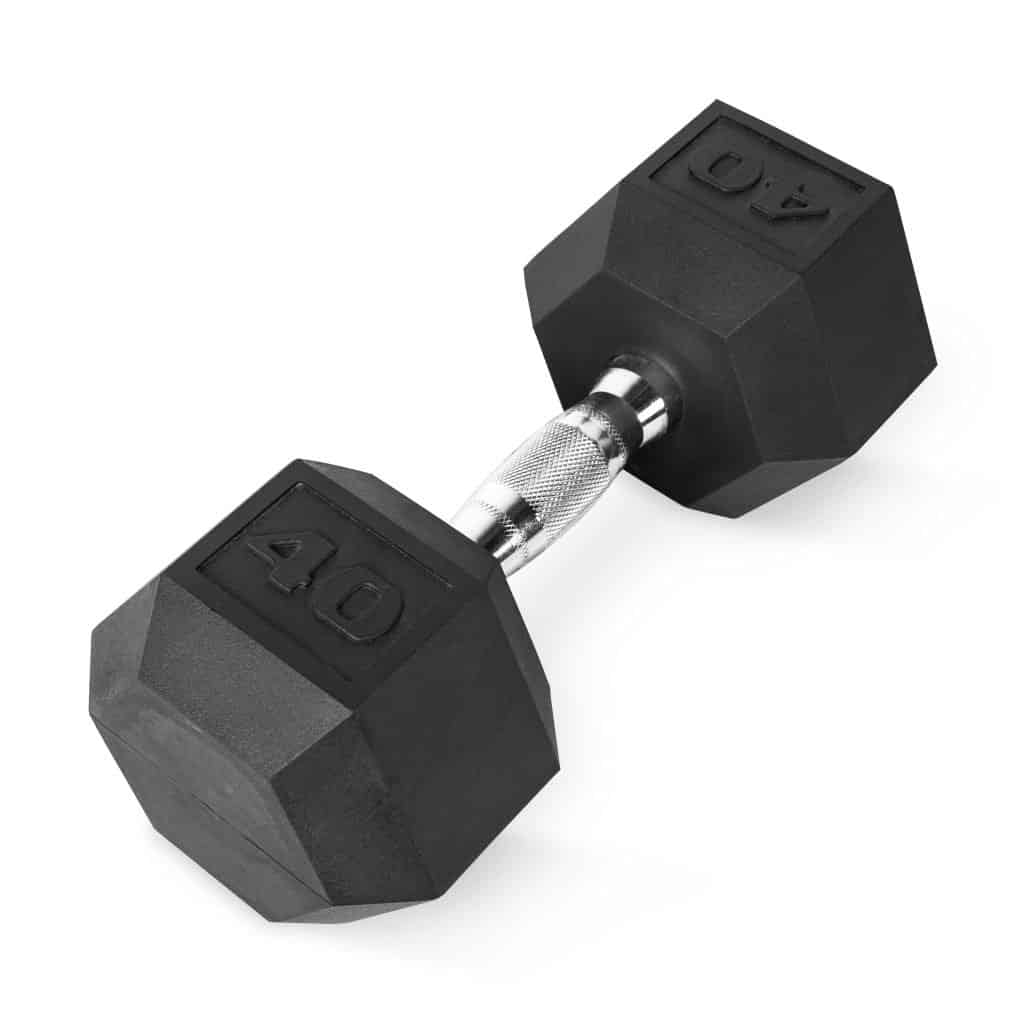 cap rubber coated hex dumbbell