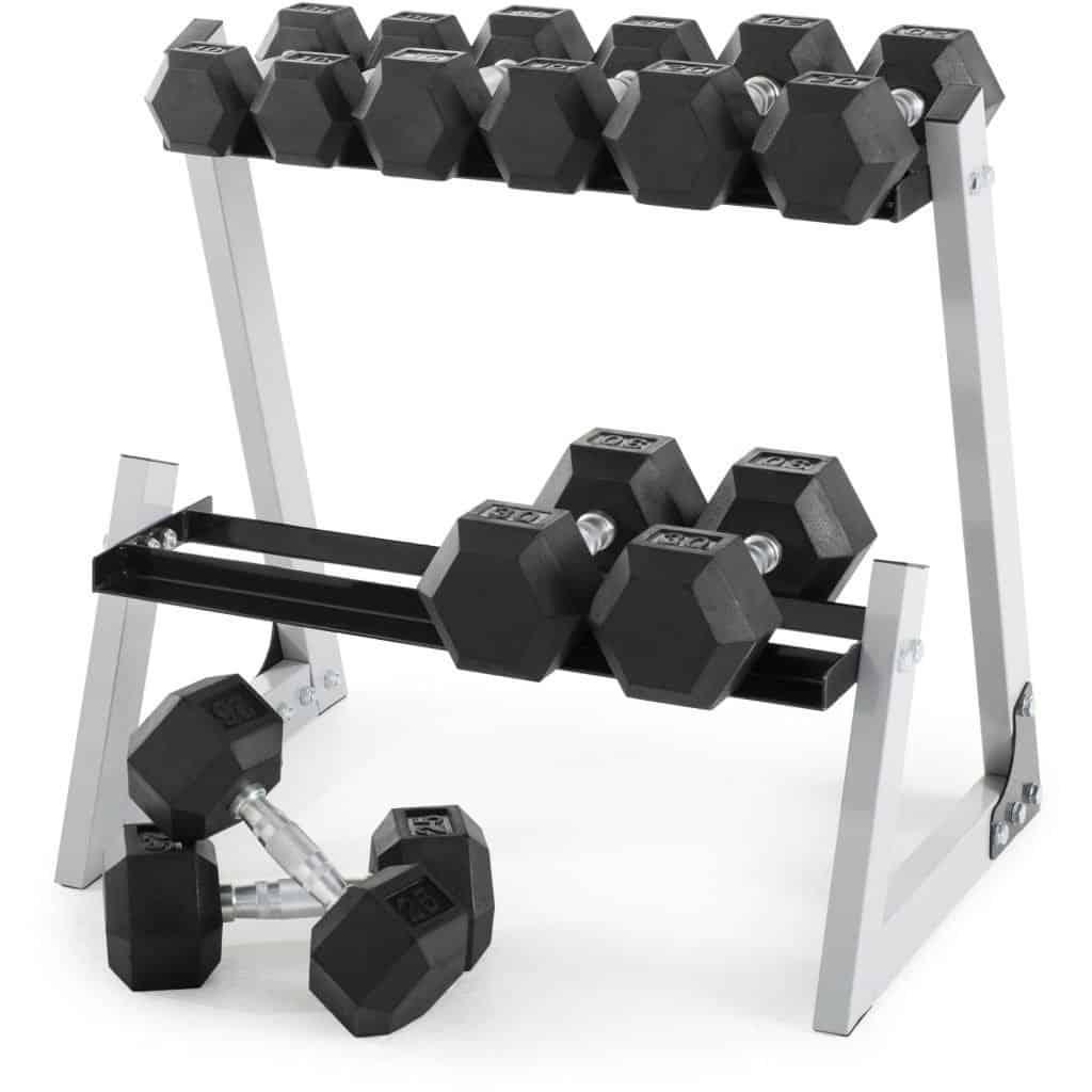 weider rubber hex dumbbell weight set
