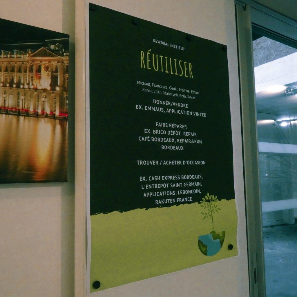 Affiche Newdeal Institut réutiliser 2