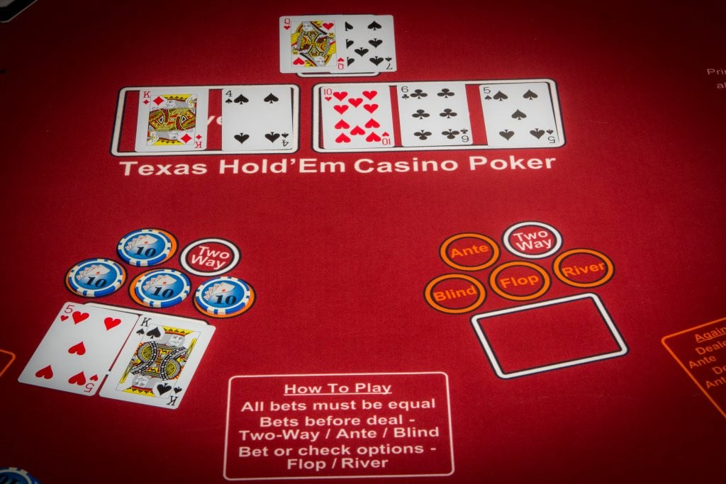 Casino Texas Hold Em game.
