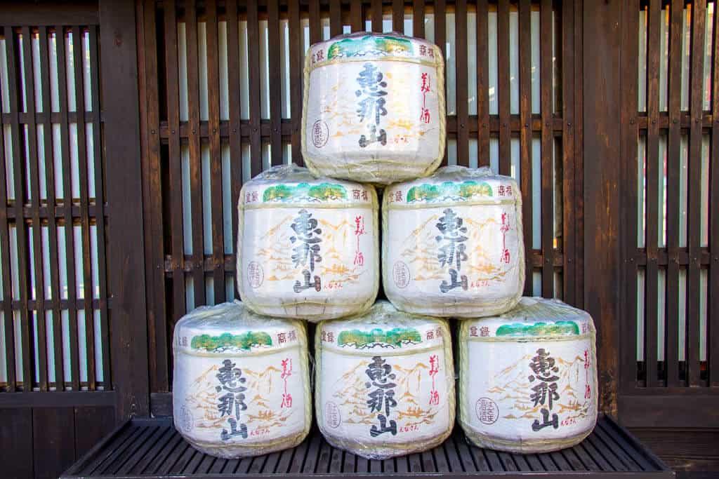 Sake Barrels in Nakatsugawa