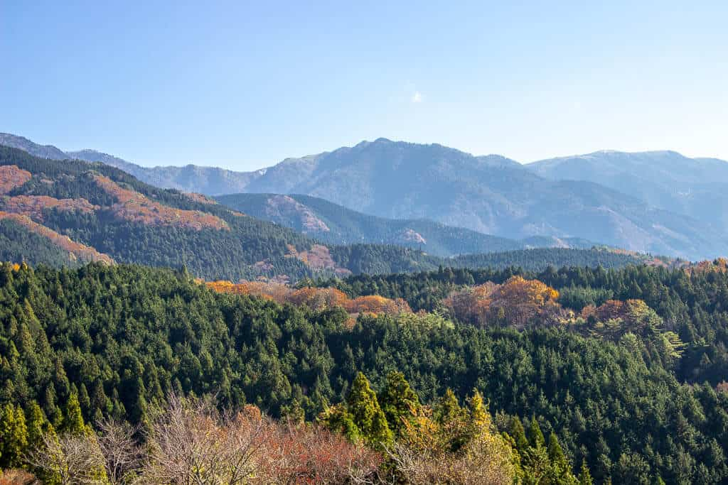 The views from Magome on the Nakasendo Trail