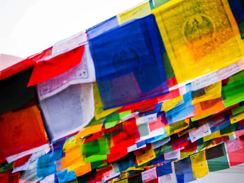 Tibetan Prayer Flags at Boudha Stupa