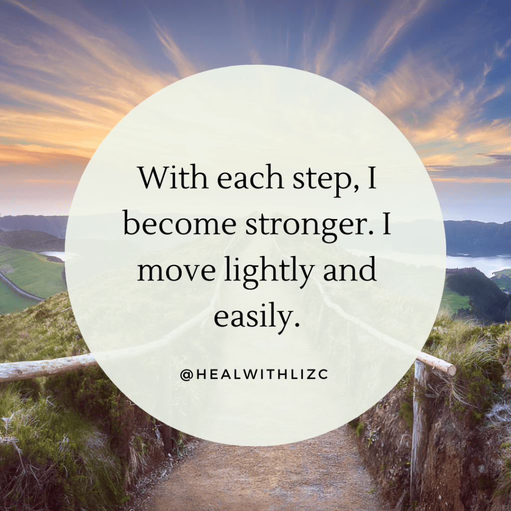 I move lightly and easily DNRS Healing Mantra