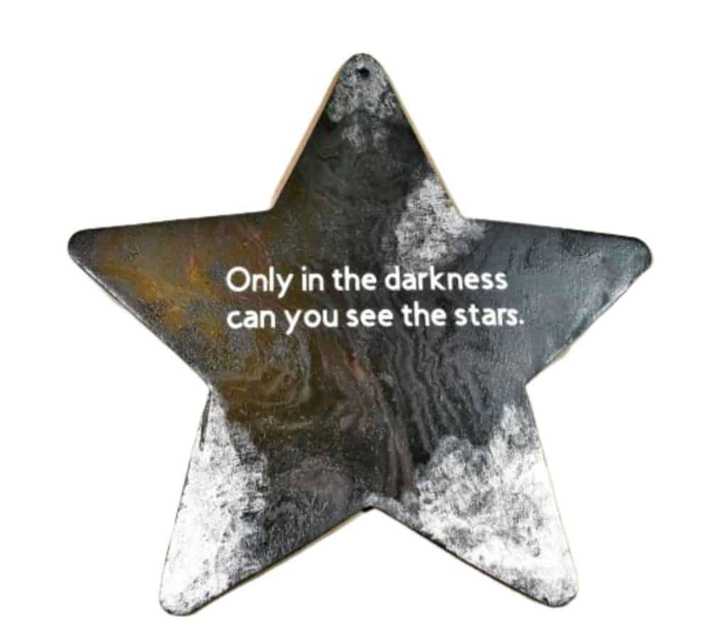 DIY Home Decor Crafts Acrylic Pouring Star