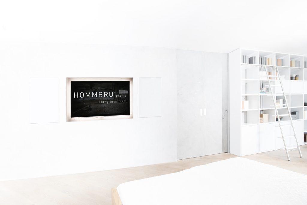 areal unsichtbarer lautsprecher wohnzimmer hommbru