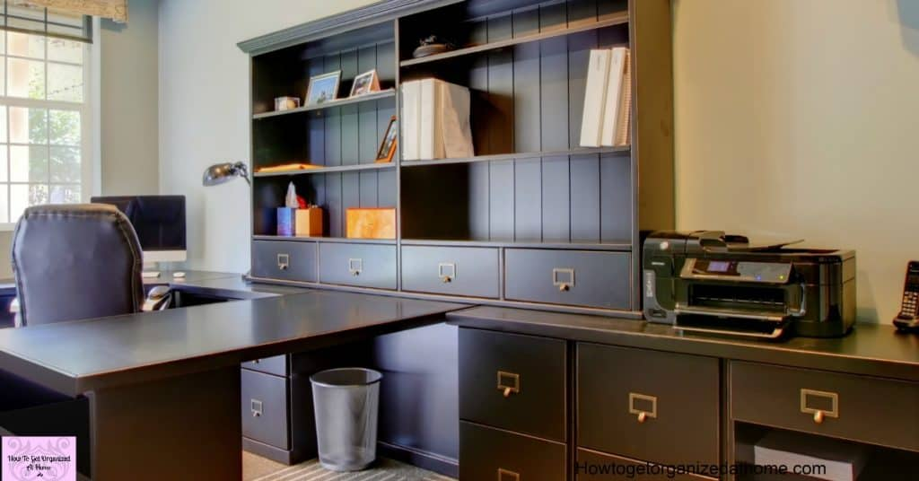 Do you want an organized home office? These tips and ideas will help!