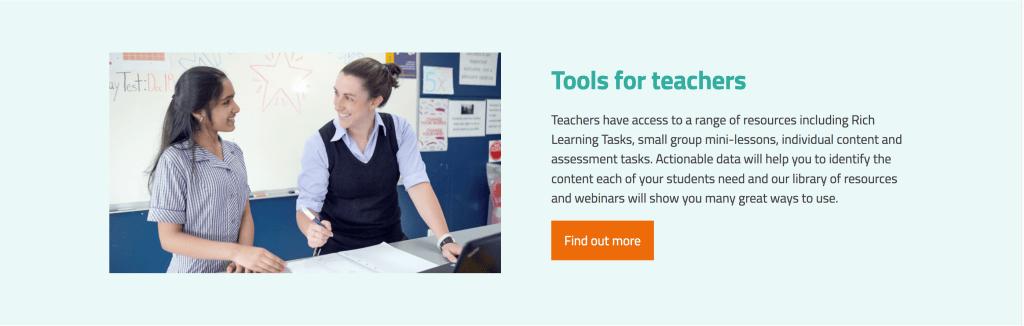 Screen shot from Maths Pathway website