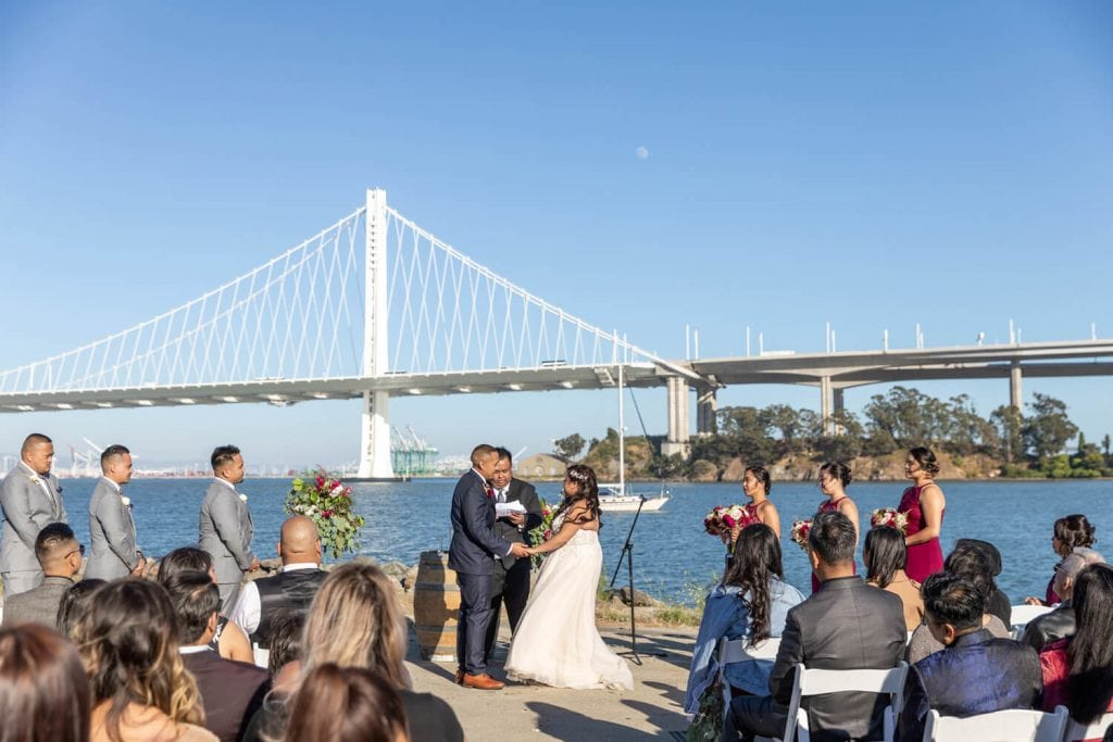 Winery SF wedding Treasure Island