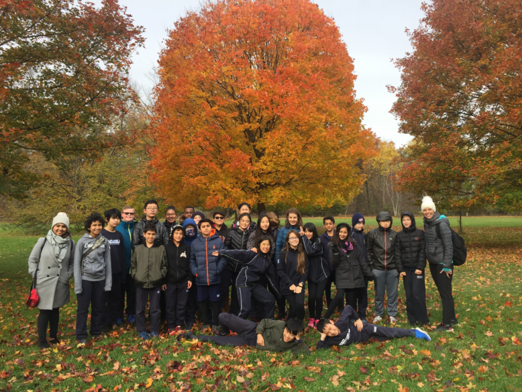 MacLachlan College students at the Royal Botanical Gardens