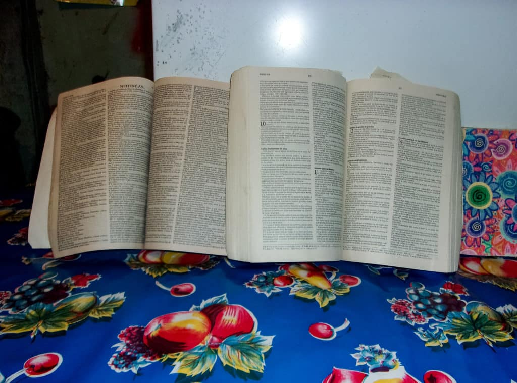 Photo of an open Bible by Allison
