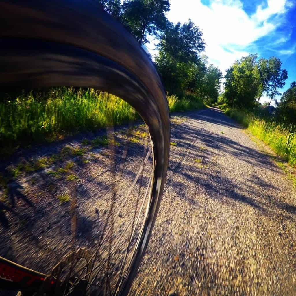 biking in Gaspésie National Park