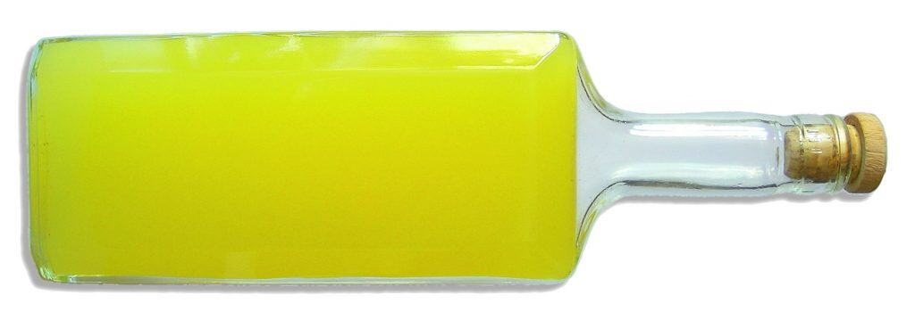 image of a bottle of limoncello