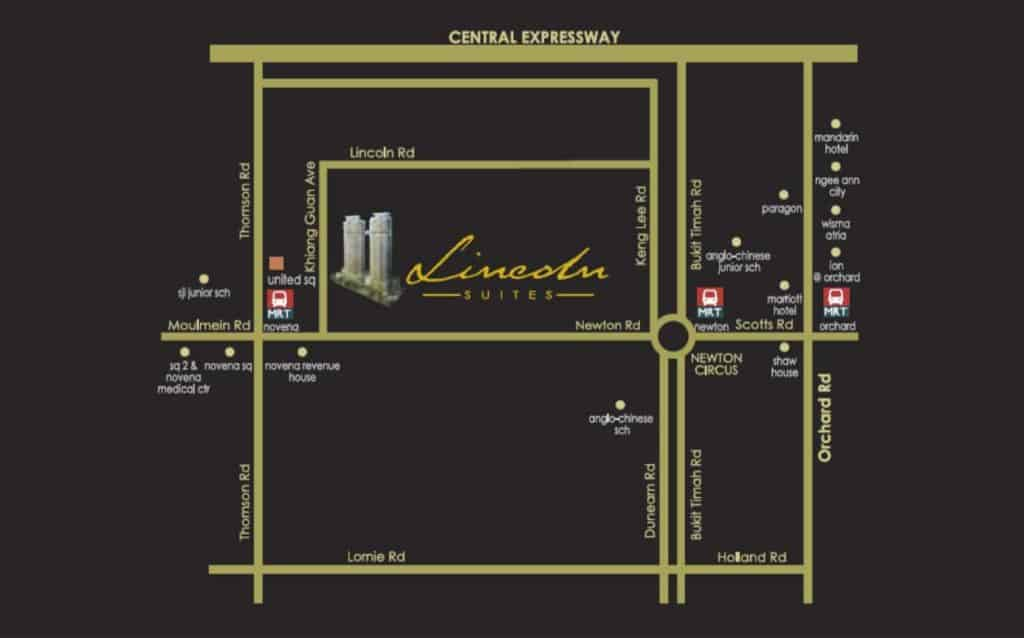 Lincoln-Suites-map