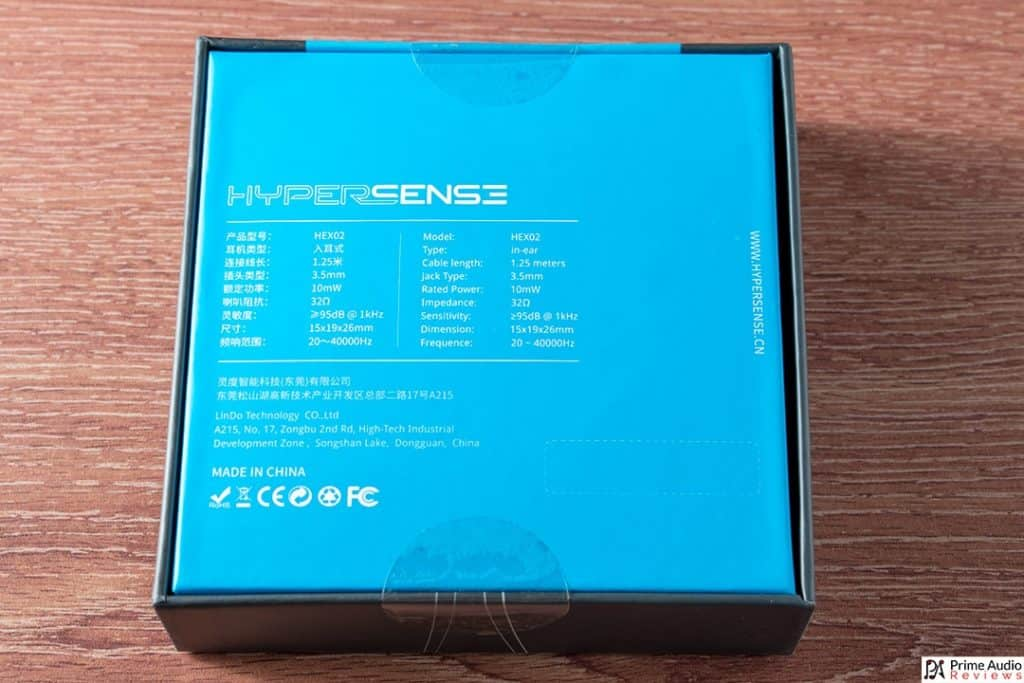 Hypersense HEX02 box back
