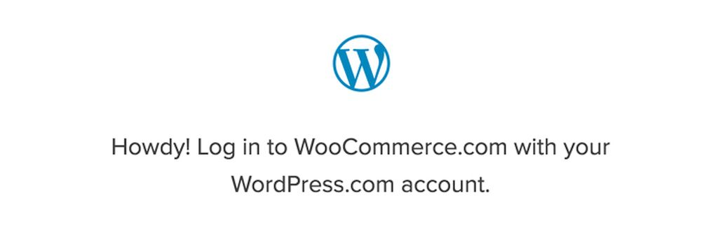 Log into WooCommerce.com with WordPress.com