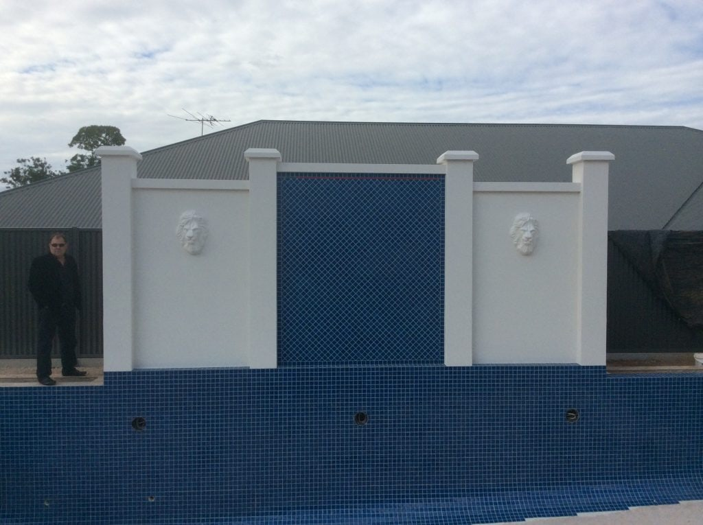 Pool Feature and amenities room made from SIPS