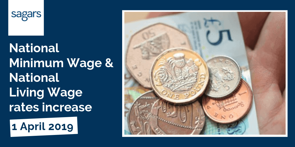 National minimum and national living wage rates increase on 1st April 2019