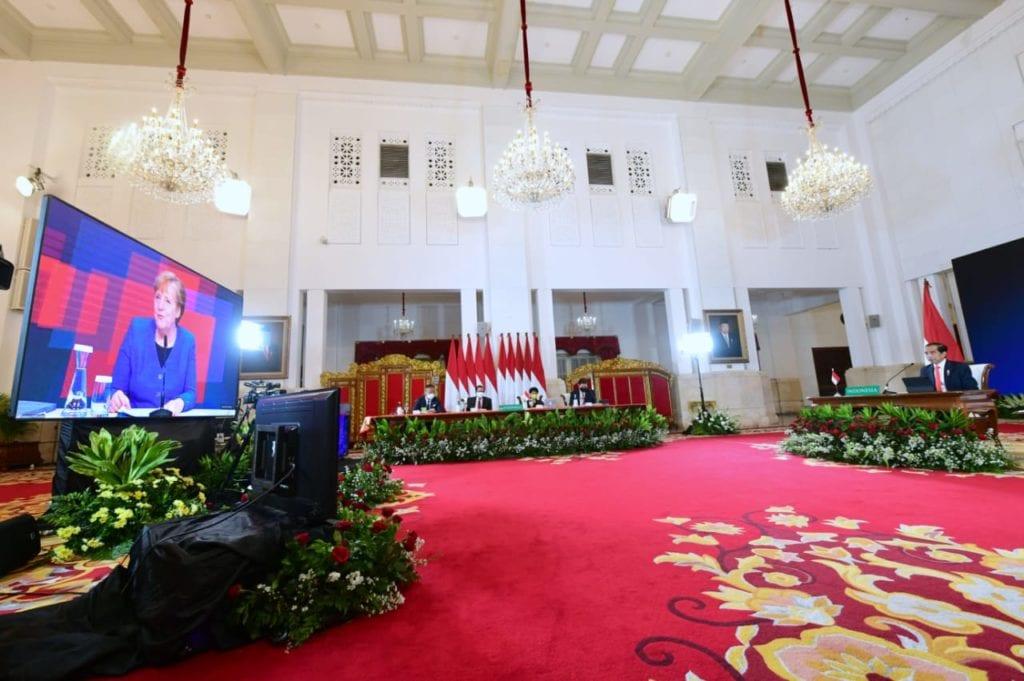 Jokowi Angela Merkel Hannover Messe 2021