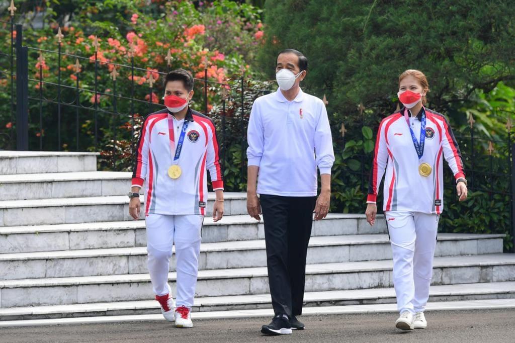 Presiden Jokowi Berikan Penghargaan untuk Atlet Olimpiade Tokyo 2020
